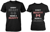 Couple Tshirts - Cute Matching Cotton Shirts for Boyfriend and Girlfriend