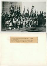 Paris, Arc de triomphe, cérémonie franco-polonaise Vintage silver print Tirage