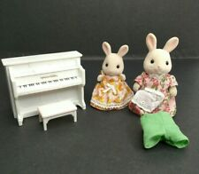 Calico Critters Sylvanian Families Rabbit Lot With Piano