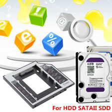 SATA 2nd HDD SSD Hard Drive Caddy Case For 9.5mm Universal Laptop CD/DVD-ROM UK