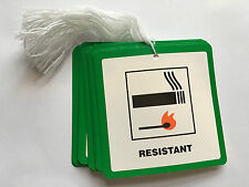50 Fire Resistant Flame Retardant labels Swing Tickets Tags Furniture DL7