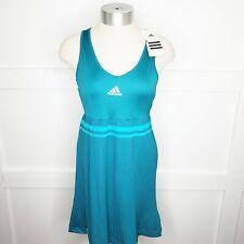 Adidas Small Teal Adipure Tennis Dress Pleated Green Detail Racerback Golf
