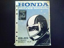 Honda VT 600 V Shadow VLX 88-89 Wartungsanleitung Reparaturanleitung