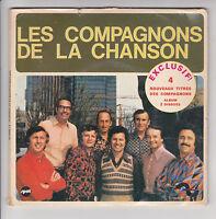 LES COMPAGNONS DE LA CHANSON Disque 2 x 45T 4 Titres EXCLUSIF ! LA SOURCE DE VIE