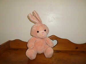 "RARE 18"" PEACH Plush Animal Alley Plush BUNNY Rabbit (*38)"