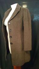 Junior Look Ladies Overcoat in a Dark Brown  Wool Blend Size 10