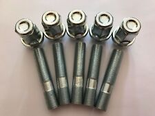5 X M12X1.5 ALLOY WHEEL STUDS + NUT CONVERSION 60mm LONG FITS OPEL 65.1 1