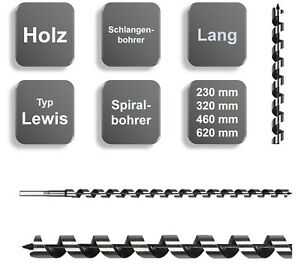 Schlangenbohrer Holzbohrer Spiralbohrer Balkenbohrer Bohrer Form Lewis NEU 6 mm 350 mm