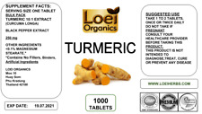 1000 PILL Quality Turmeric Cur-cumin 2500 mg Dose With BioPerine Black Pepper