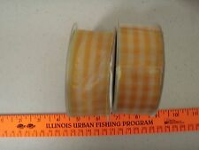 "10+ yards 1 1/2"" yellow / white sheer ribbon"