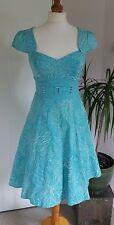 Stunning Karen Millen Size 8 Aqua Blue Full Skirt Elegant Dress