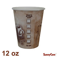 SunnyCare 12 oz Hot Coffee Paper Cups (Case of 1000)