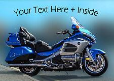 Personnalisé HONDA GOLDWING Motor Cycle Vélo Anniversaire Toute Occasion carte + insert