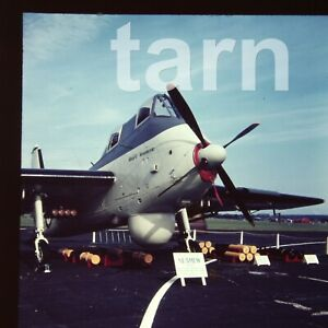 60 x 60 glass slide  aeroplane aircraft plane Short Seamew c1950s r62