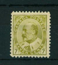 Canada 1903 King Edward VII 7c olive stamp. Mint. Sg 180.