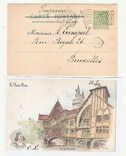 32) 1900 World Exhibition during Olympic Games card machine cancel Paris Expo