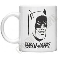 Batman Real Men Wear Tights Funny Mug Comics Mug Gifts Movie Retro 11oz  Mug