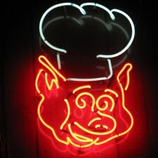 """New BBQ Pig Meats Barbecue Beer Neon Sign 17""""X14"""" Fast Ship"""