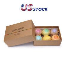 6Pc Bath Bombs Natural Organic Essential Oils Cleaner Spa Gift Bath Buble Ball