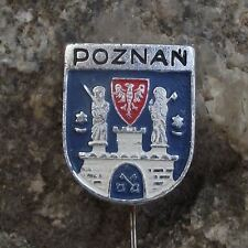 Poznan Polish City Poland Heraldic Crest Castle Gates Coat of Arms Pin Badge