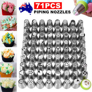 71PCS Piping Nozzles Set Cake Decorating Flower Russian Icing Tips Pastry Tools