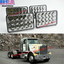 2 Pairs LED Headlights Sealed Beam Headlamps For FREIGHTLINER FLD 120 112 FLD