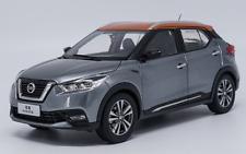 1/18 NISSAN Original manufacturer, Grey NISSAN KICKS  Alloy car model  2017