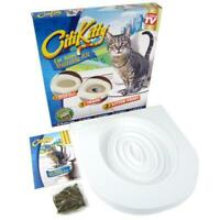 CAT KITTY TOILET SEAT TRAINING KIT SYSTEM LITTER TRAYS