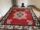 Extra Large Antique Hand Woven Wool Bessarabian Aubusson Style Kilim Carpet Rug