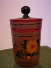 Russian khokhloma USSR  vase with a lid