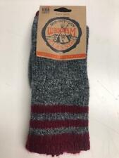 Wigwam Adult Classic Burgundy & Charcoal Pine Lodge Boot Socks, Size Medium