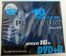 Platinum DVD+R 4,7 GB Speed 16 x  NEU 10 Stück einzeln im Case