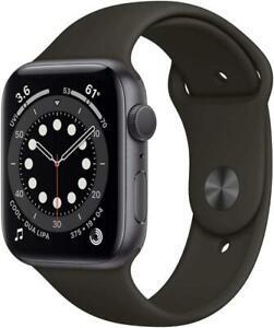 Apple Watch Series 6 GPS 44mm Aluminium Case with Sport Band - Black (M00H3B/A)
