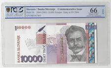 SLOVENIA  10000 TOLARJEV  2004  COMMEMORATIVE  PICK 30 PCGS 66 GEM UNC OPQ R465