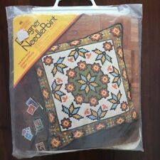 1973 Columbia Minerva Bob Miller Needlepoint Oriental Pillow Kit 1561 Kilim