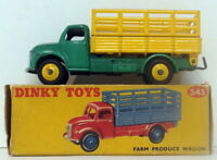 Vintage Dinky 343 - Farm Produce Wagon - Green Yellow