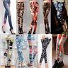 Womens Colorful Galaxy Print Leggings Stretchy Jeggings Pencil Skinny Pants Hot