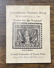 Central Federation Of Stamp Clubs 1944 International Philetelic Week Label