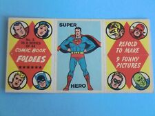OLD CARD 1966  COMIC BOOK FOLDEES MARVEL SUPERMAN