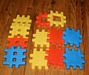 "Vintage 1984 Little Tikes 8"" Waffle Blocks ( 12 ) Set"