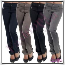 Sexy Women's Office Trousers Ladies Classic Casual Pants Size 6,8,10,12,14,16 UK