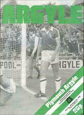 Football Programme - Plymouth Argyle v Blackpool - Div 3 - 29/9/1979