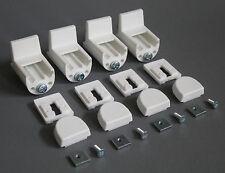 Klemmträger für Plissees (4 Stück) - Bohrfreie Montage am PVC-Fensterflügel