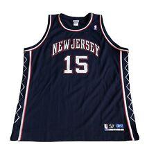 Reebok Authentic NBA New Jersey Nets Vince Carter 15 Jersey Mens 52 Basketball