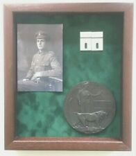 Large Display Case For WW1 Plaque, Photo and Medals. (PLEASE READ DESCRIPTION)