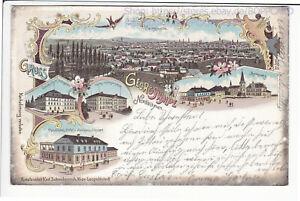BÖHMEN , LITHO GRUSS AUS GEORGSWALDE , JIRIKOV , TETSCHEN , SCHWIDERNOCH 1901