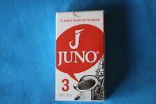 Juno Alto Sax No. 3 Reeds by Vandoren, box of 10, Student Grade, JSR613