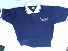 Two Shell Polo Shirts, Blue, XL and L