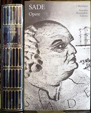 Donatien Alphonse François de Sade, Opere, Ed. Mondadori, 1993