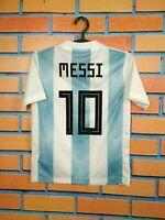 Messi Argentina Jersey 2018 2019 Home Kids Boys 9-10 y Shirt Adidas BQ9288